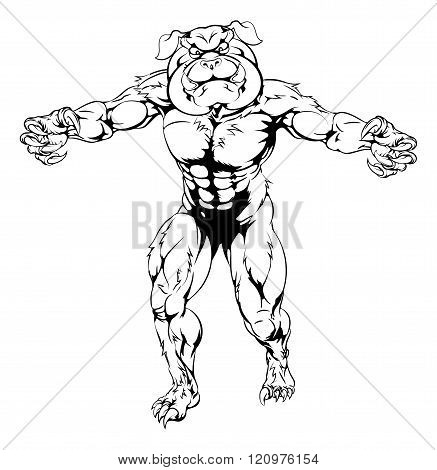 Bulldog Character Attacking