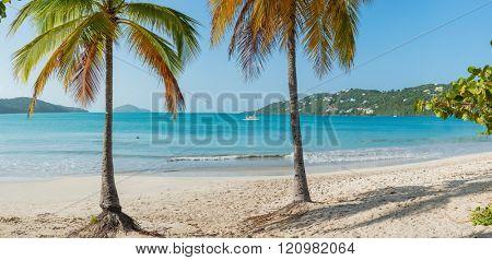 St. Thomas, US Virgin Islands Magen's Bay beautiful beach scene horizontal - LARGE Panorama