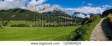 Panorama Of Fassa Valley