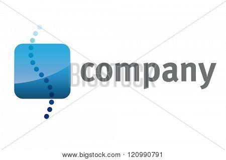 Blue Spine Orthopedist Logo Template