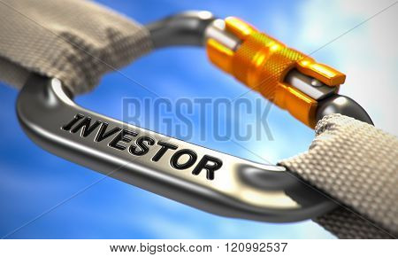 Chrome Carabiner Hook with Text Investor.