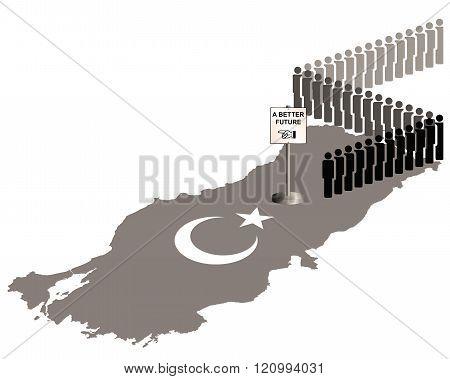 Sepia Turkey Migration