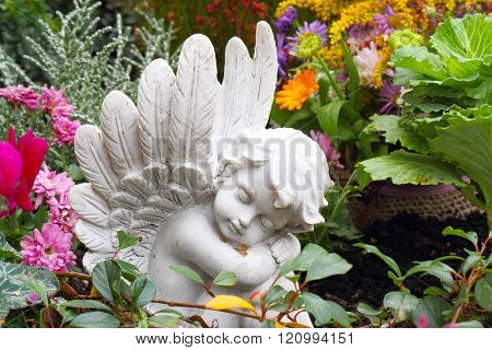 Grave Angel In Autumn