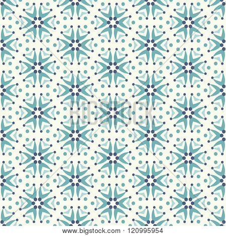 Seamless Pattern In Teal Colors