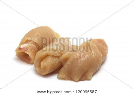 white meat slices of chicken breast