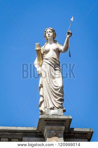 Woman Sculpture. Golden Gate In Gdansk