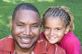 foto of cornrow  - Father and Daughter - JPG