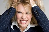 picture of frazzled  - Angry Frustrated Woman - JPG