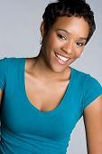 foto of african american woman  - Happy African American Girl - JPG