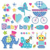 Постер, плакат: baby boy shower collection
