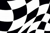 stock photo of race track  - balck and white checkered racing flag great for backgrounds - JPG