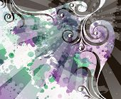 foto of transpiration  - abstract floral grunge background - JPG