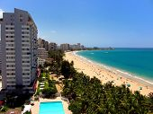 foto of san juan puerto rico  - a view of isla verde beach in san juan puerto rico usa - JPG