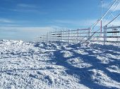Frozen Fence At Weather Station poster