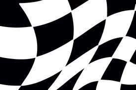 image of race track  - balck and white checkered racing flag great for backgrounds - JPG