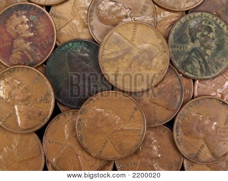Vintage Usa Wheat Pennies