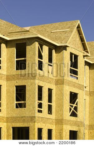 Composite Wood Sheathing On A Building