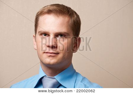 Portrait of a young thoughtful businessman