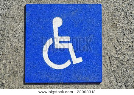 closeup of a disabled signal on white over blue