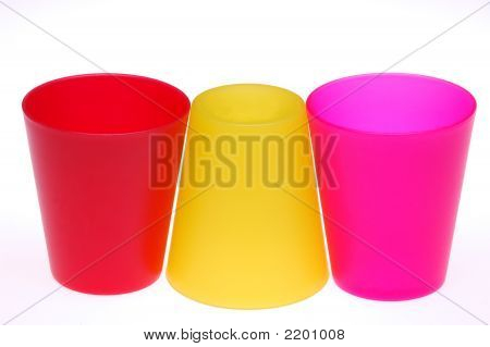 Three Plastic Cups