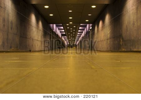 Empty Abandoned Tunnel