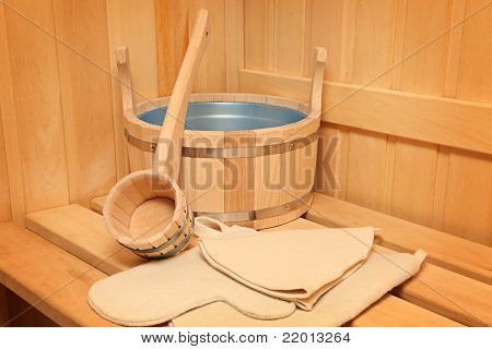Still Life Of A Steam Bath-room Accessories