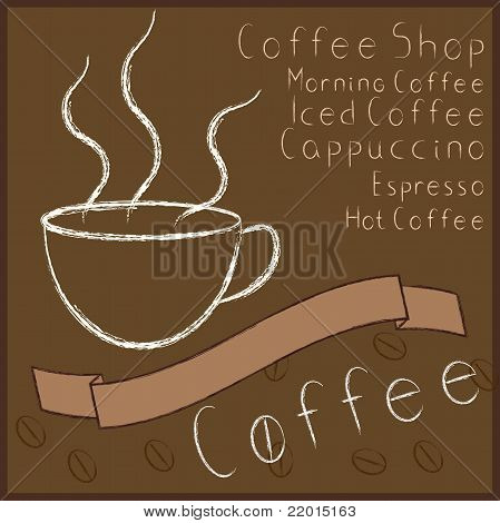 Vintage Coffee Themed Elements Set