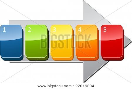Five blank numbered sequential steps business diagram illustration