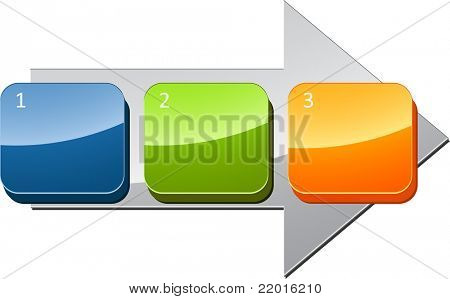 Three Blank numbered sequential steps business diagram illustration