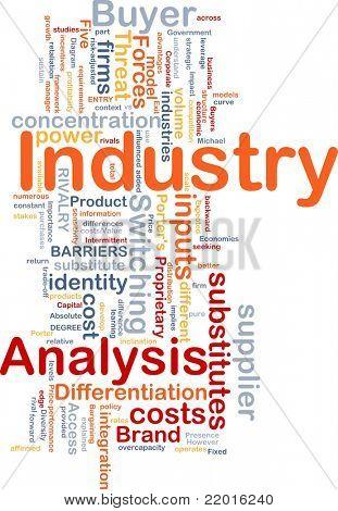 Hintergrund Konzept Wordcloud Abbildung von Business-Industrie-Analysen