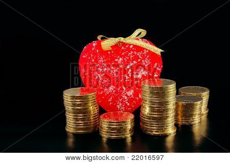 Heart And Metal Coins