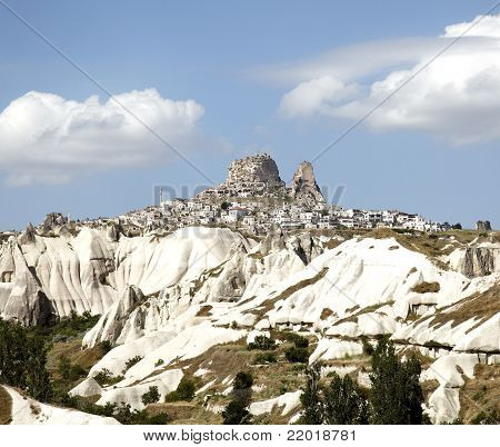 Uchisar Viewed From Goreme Kapodokya