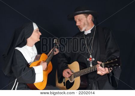 Nun And Priest Singing
