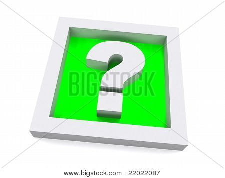 Green 3D Question Sign