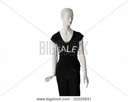 Mannequin wearing Black Sale Tshirt