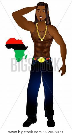 Rasta afrocéntricos hombre