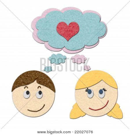 Boy And Girl Dreaming About Love