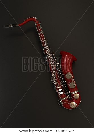 red saxophone