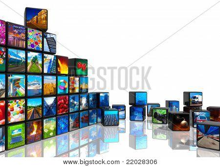 Collage de fotos de los cubos con fotos