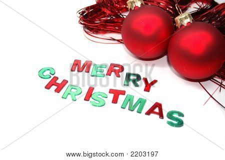 Merry Christmas Red And Green