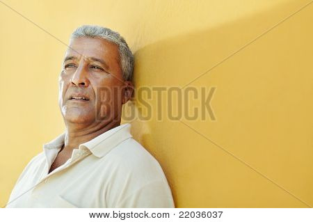 Portrait Of Sad Mature Hispanic Man
