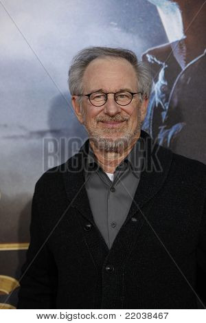 LOS ANGELES - JUL 23: Steven Spielberg at the 'Cowboys & Aliens' world premiere at the Civic Theater in San Diego, California on July 23, 2011