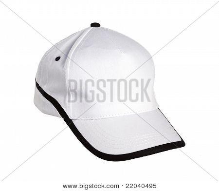 Gorra de béisbol blanco/negro