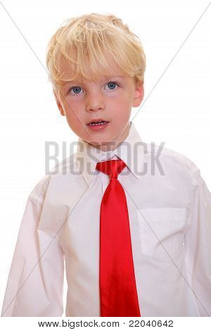 Boy Wearing A Tie