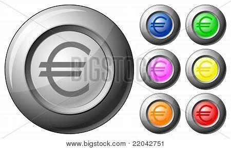 Sphere Button Euro