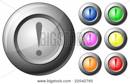Sphere Button Exclamation Mark