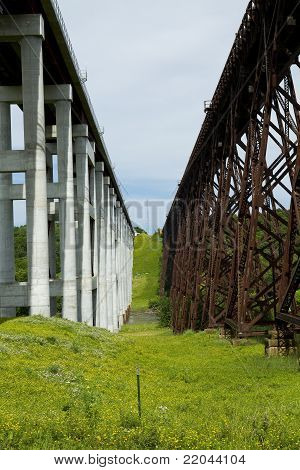 Tall Railroad Bridges
