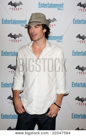 LOS ANGELES - JUL 23:  Ian Somerhalder arriving at the EW Comic-con Party 2011 at EW Comic-con Party 2011 on July 23, 2011 in Los Angeles, CA