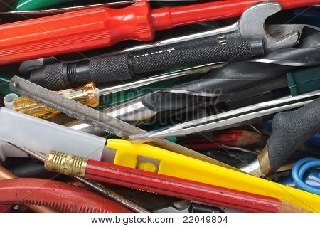 Collection of small hand tools