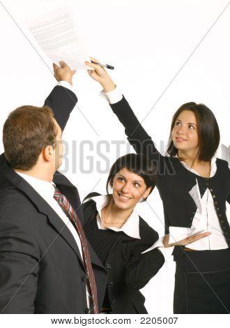 Businessmen Are Pleased